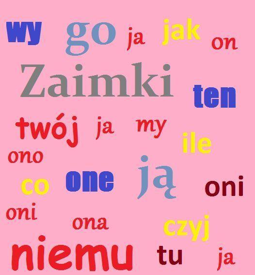 Склонение личных местоимений по падежам в польском языке
