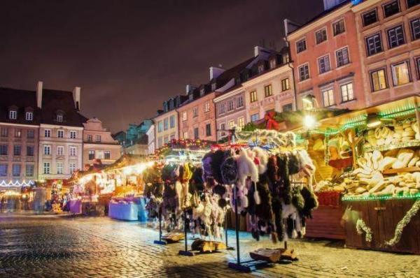 Рождественские ярмарки в Варшаве
