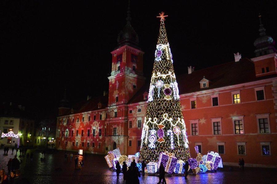 Рождественские огни в Варшаве (Świąteczna Iluminacja Warszawy) - 05.12.2015