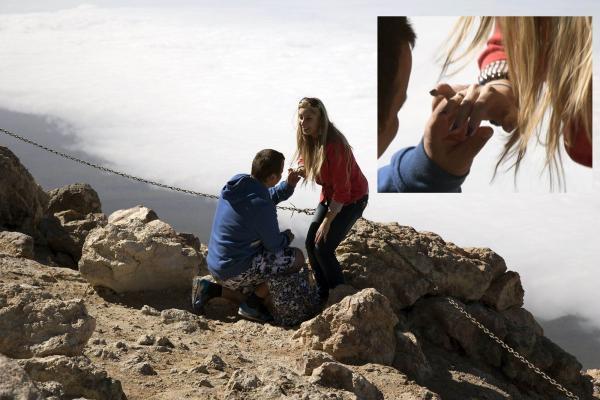 Делитесь постом и фотографии найдут эту пару!!! PROPOZYCJA MAŁŻEŃSTWA NA WULKANIE TEIDE