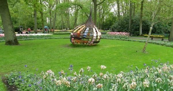 Тюльпановый фестиваль в Ботаническом саду Варшавского университета