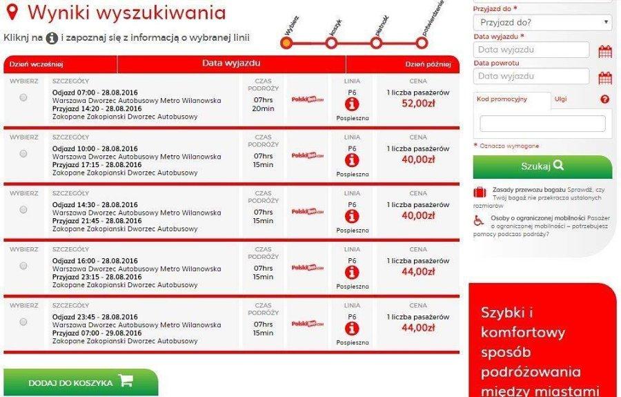 Как дешевле добраться до Закопане из Варшавы