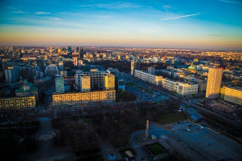 Вид со смотровой площадки Дворца культуры и науки в Варшаве