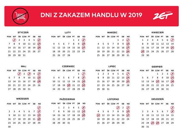 Режим работы магазинов в Польше в 2019 году